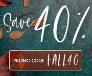 Save with promo code FALL40